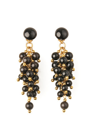 S4-6-2-A2343BK BLACK GOLD EARRING/12PAIRS