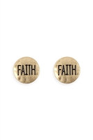 S22-9-1-24619G - FAITH STUD EARRINGS /6PCS