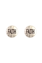 S22-9-1-24619S-FAITH STUD EARRING/6PCS