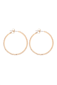 S1-3-3-25660-30CR-G - 1.5MM RHINESTONE HOOP POST EARRINGS - CRYSTAL GOLD/6PCS