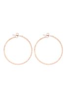 S1-4-2-25660-40CR-G - 1.5MM RHINESTONE HOOP POST EARRINGS - CRYSTAL GOLD/6PCS