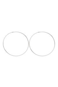 S1-4-2-25805-120-S - 2MM WIRE 120MM HOOP - SILVER/6PCS