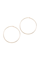 S1-4-3-25805-80-G-WIRE HOOP EARRINGS - GOLD/6PCS
