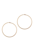 S1-4-3-25805-80MG- WIRE HOOP EARRINGS - MATTE GOLD/6PCS