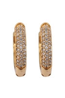 S22-3-2- 26731CR-OG - 0.65 PAVE HUGGIE HOOP EARRINGS - GOLD/6PCS