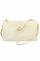 S24-4-5-7013-35IVORY - FAUX CROSSBODY WRISTLET BAG - BLUSH/3PCS