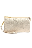 S24-4-5-7013-35RSG - FAUX CROSSBODY WRISTLET BAG - BLUSH/3PCS