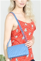 S24-4-4-7013-35RYB - FAUX CROSSBODY WRISTLET BAG - ROYAL BLUE/3PCS