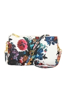S26-9-2-7013-51FL - FAUX CROSSBODY WRISTLET BAG /3PCS