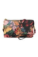 S26-9-2-7013-81FL - FAUX CROSSBODY WRISTLET BAG /3PCS