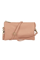 S24-3-2-7013BLUSH -FAUX CROSSBODY WRISTLET BAG - BLUSH/3PCS