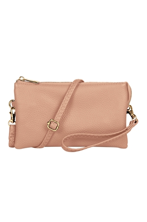 S24-4-2/S24-3-2-7013BLUSH -FAUX CROSSBODY WRISTLET BAG - BLUSH/3PCS