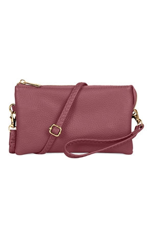 S24-4-2/S24-3-2/S24-4-3-7013BD -FAUX CROSSBODY WRISTLET BAG -BURGUNDY/3PCS