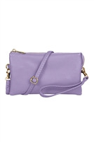 S24-4-2-7013LPP - FAUX CROSSBODY WRISTLET BAG - LIGHT PURPLE/3PCS