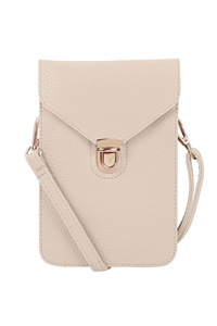S18-11-5-7081IV - CROSS BODY LEATHER BAG - IVORY/3PCS