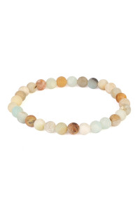 S6-5-2-A83356POM MULTI NATURAL BEAD STRETCH BRACELET/6PCS