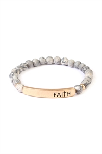 S7-6-2-A83396JT-G GRAY FAITH 6mm NATURAL STONE BRACELET/6PCS