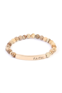 S7-6-2-A83396LCT-G BROWN FAITH NATURAL STONE BRACELET/6PCS