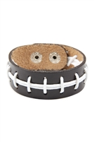 S22-8-1-83435STO-S - FOOTBALL LEATHER BRACELET/6PCS