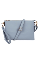 S20-8-5-8623B-BLUE- CROSSBODY WRISTLET BAG - N BLUE/3PCS