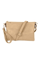 S22-8-5-8623LBG - CROSSBODY WRISTLET BAG - LIGHT BEIGE/3PCS