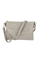 S20-8-5-8623LGY- CROSSBODY WRISTLET BAG - LIGHT GRAY/3PCS