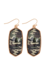 S25-6-1/S25-6-4-AE0331GD-CAM1-OVAL DROP EARRINGS-GOLD CAMOUFLAGE/6PCS