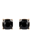 S22-2-4-AE0333BK-GLITTER EPOXY STUD EARRINGS-BLACK/6PCS