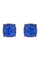 A2-3-4-AE0333BLU-GLITTER EPOXY STUD EARRINGS-BLUE/6PCS