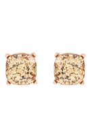 S22-2-4-AE0333GD-GLITTER EPOXY STUD EARRINGS-GOLD/6PCS