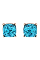S22-2-4-AE0333LBU-GLITTER EPOXY STUD EARRINGS-LIGHT BLUE/6PCS
