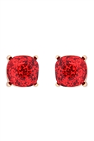 S22-2-4-AE0333RED-GLITTER EPOXY STUD EARRINGS-RED/6PCS