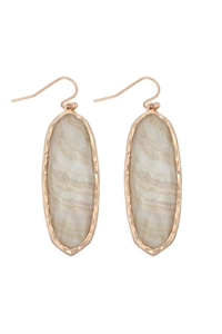 S22-2-4-AE0341CRM-PRINTED EPOXY EARRINGS-CREAM/6PCS