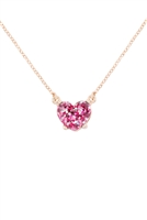 S21-8-4-AN0105FSH- HEART GLITTER EPOXY NECKLACE-FUCHSIA/6PCS