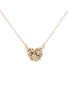 S21-8-4-AN0105GD- HEART GLITTER EPOXY NECKLACE-GOLD/6PCS