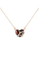 S21-8-4-AN0105GLEO- HEART GLITTER EPOXY NECKLACE-LEOPARD/6PCS