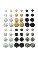 S25-6-5-ANE4646 - 12 PAIR FIRE BALL MULTI EARRING ASSORTED BY SET/12 PCS