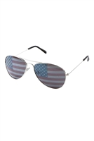 S17-3-5-AV-1028-USA-FLAG - USA FLAG TINTED SUNGLASSES /12PCS