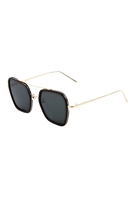 A3-3-5-AV-1498-FT - SQUARE AVIATOR SUNGLASSES/12PCS
