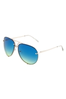 S17-2-5-AV-1539-OC-RIMLESS OCEANIC COLOR AVIATORS WHOLESALE BULK SUNGLASSES/12PCS