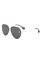 S17-3-5-AV-1651 - AVIATOR SOFT SHADED SUNGLASSES /12PCS
