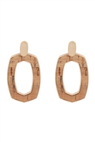 S25-2-2-B3E2202NAT-OVAL SHAPE CAST CORK POST EARRINGS-NATURAL/6PCS