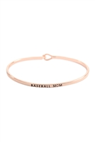 S22-11-1-B4481RG - BASEBALL MOM FASHION BANGLE ROSE GOLD/6PCS