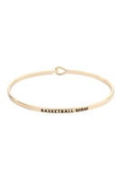 S22-13-3-B4482GD - BASKETBALL MOM FASHION BANGLE GOLD/6PCS