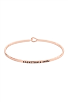 S22-13-3-B4482RG - BASKETBALL MOM FASHION BANGLE - ROSE GOLD/6PCS
