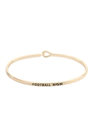 S21-6-2-B4483GD - FOOTBALL MOM FASHION BANGLE  GOLD/6PCS