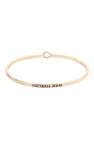 S22-13-4-B4504GD - SOFTBALL MOM FASHION BANGLE GOLD/6PCS
