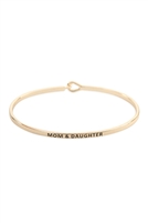 S22-11-1-B4532GD - MOM AND DAUGHTER FASHION BANGLE GOLD/6PCS