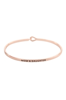 S22-11-1-B4532RG - MOM AND DAUGHTER FASHION BANGLE - ROSE GOLD/6PCS