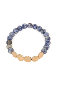 S6-4-4-AB6278WG-BL BLUE NATURAL STONE STRETCH BRACELET/6PCS